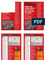 Marxism in Scotland 2014. A5 Double-sided