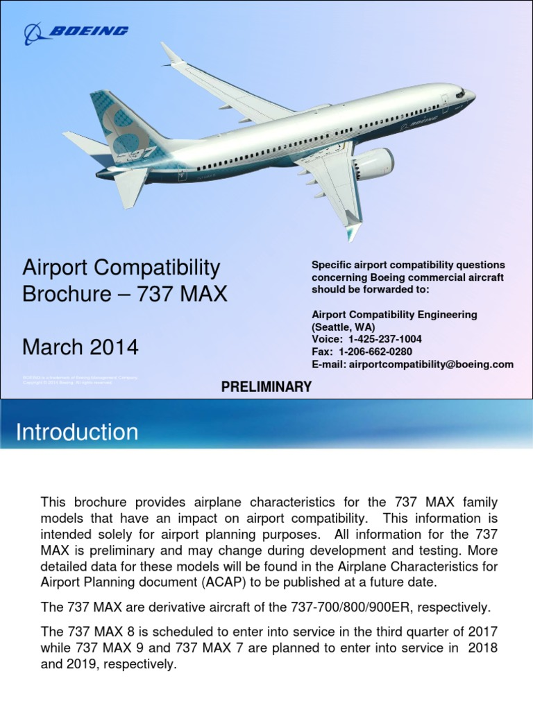 737 Max Brochure | Aircraft Manufacturers Of The United States