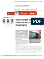 18-08-14  Inauguran en Nuevo León nuevos espacios educativos y arranca el ciclo escolar 2014-2015.