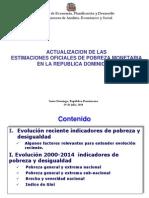 Evolucion Reciente de La Pobreza 29 Julio 2014