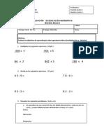 Evaluación de Educación Matemática Agosto