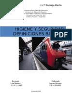 Trabajo de Higiene y Seguridad-Santiago Mariño