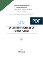 La Ley de Estatutos de La Funcion Pública