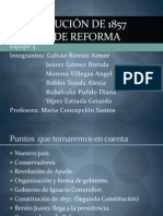 Constitución de 1857 y Guerra de Reforma