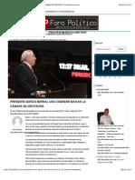 26-08-14 PRESIDIRÁ MARCO BERNAL UNA COMISIÓN MAS EN LA CÁMARA DE DIPUTADOS