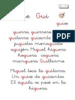 Metodo de Lectoescritura Letra Gue Gui
