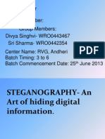 STEGANOGRAPHY- An Art of Hiding Digital Information