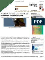 "26-08-14 ""Medular"", suspender operaciones de mina en Cananea"