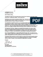 Scott Brown Campaign Letter to Lawrence Lessig re