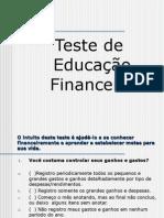 Teste de Educação Financeira