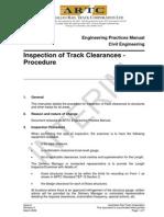 ARTC - RAP5135 - Inspection of Track Clearances - Procedure