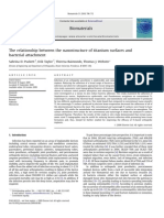 The Relationship Between the Nanostructure of Titanium Surfaces And