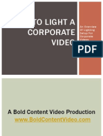 How to Light a Corporate Video