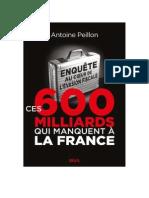 Ces 600 Milliards Qui Manquent a La France