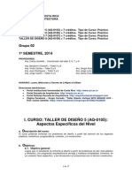UCR Taller Diseño 5-6-7-8 - Programa 2014-1