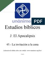 J.45.- La Invitacion a La Cena