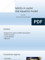 Bistability in Oyster Differential Equation Model