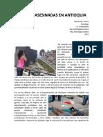 Mujeres Asesinadas en Antioquia