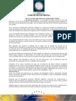 18-03-2011 Guillermo Padrés  tomó protesta al presidente de la junta de asistencia privada, Marco Antonio Martínez. B031156