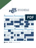 2015 Tampa Bay Rays reg season schedule