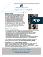 Developing Intercultural Training Skills
