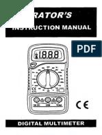 Excel XL830L Multimeter Instructions