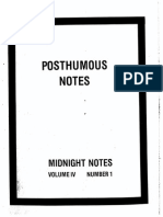 Midnight Notes Posthumous Notes 1983
