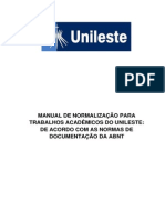 Manual de Normalizacao Para Trabalhos Academicos 2014