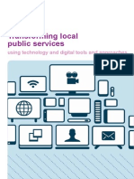 Transforming Public Services Using Technology and Digital Approaches