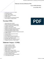 Dpe.nic.in Publications List of Maharatna Navratna-And Miniratna