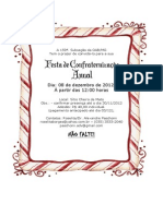 Convite Festa de Natal 2012