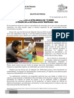 07 de septiembre de 2014.- IMPULSA LA INTELIGENCIA DE FORMA SANA DE TÚ BEBÉ A TRAVÉS DE LA ESTIMULACIÓN TEMPRANA, SSO