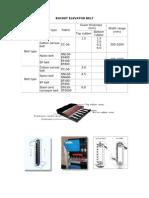 Bucket Elevator Belt Tech Data
