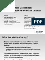 Mass Gatherings-potential Hazards