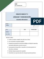 ENSAYO SIMCE  N° 5 LENGUAJE 2° BASICO (1) (1)