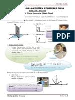 Kinematika Dalam Sistem Koordinat Bola
