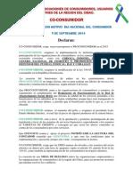 Declaracion de ASOCOUPSA 2014, Dia Nacional Del Consumidor2