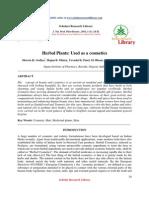 Herbal Ingredients in Cosmetics