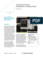 Evaluating Oscilloscope Sample Rates 5989-5732EN