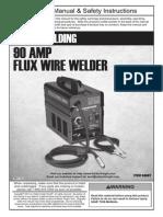 HARBOR FREIGHT 90 AMP FLUX WIRE WELDER