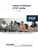 Repression of Dissent in Sri Lanka July 2014 English 07Sep2014