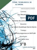 Analisis de Las Funciones en MATLAB