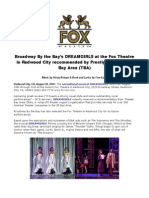 Broadway by the Bay's DREAMGIRLS at the Fox Theatre in Redwood City Recommended by Prestigious Theater Bay Area (TBA)