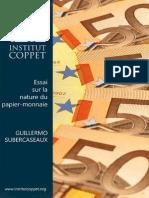 Guillermo Subercaseaux-Essai Sur La Nature Du Papier Monnaie Envisagé Sous Son Aspect Historique Et Économico-monétaire-Institut Coppet (1909)