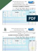 FORMULÁRIO RECEBIMENTO