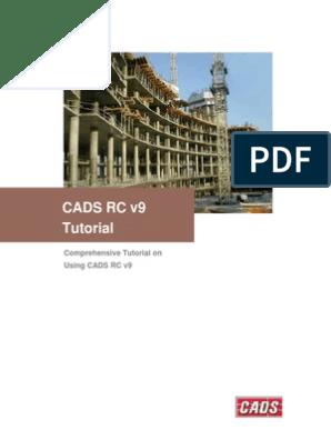 Cads Rc(i) Tutorial | Computer Aided Design | Auto Cad