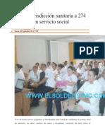 04-09-14 elsoldelistmo Recibe jurisdicción sanitaria a 274 pasantes en servicio social