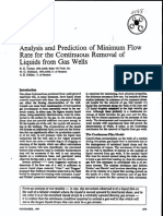 SPE 2198 Analysis and Prediction of Minimum Flow Rate for the Continuous Removal of Liquids From Gas Wells