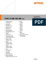 Stihl spare parts list for FS400 FS450 FS480
