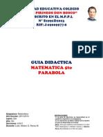 Guia Didactica de Parabola